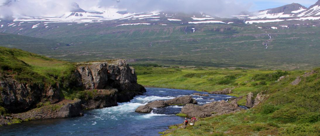 Iceland Atlantic salmon fishing in the Breiddalsa River