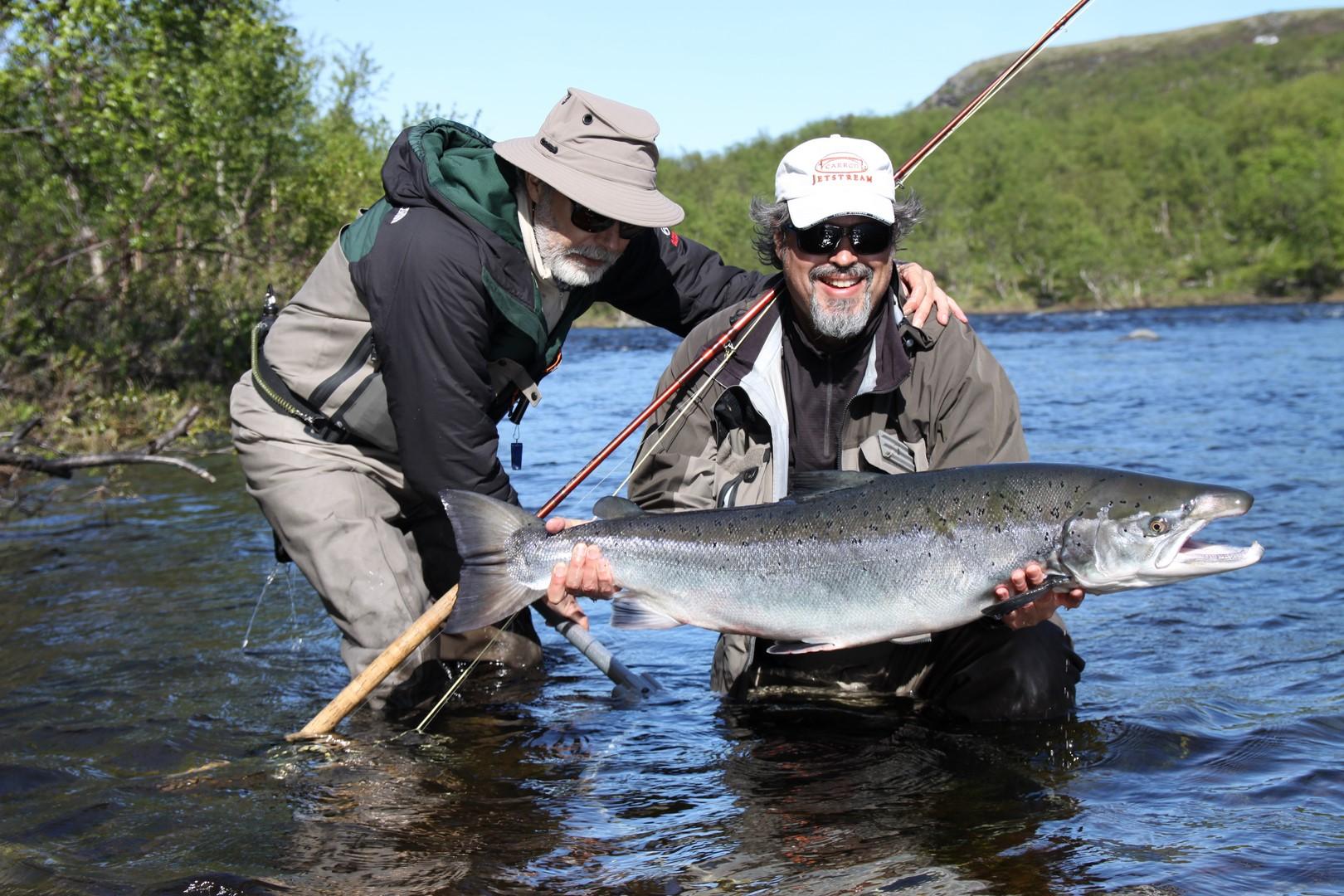 30+ lb Drozdovka River salmon