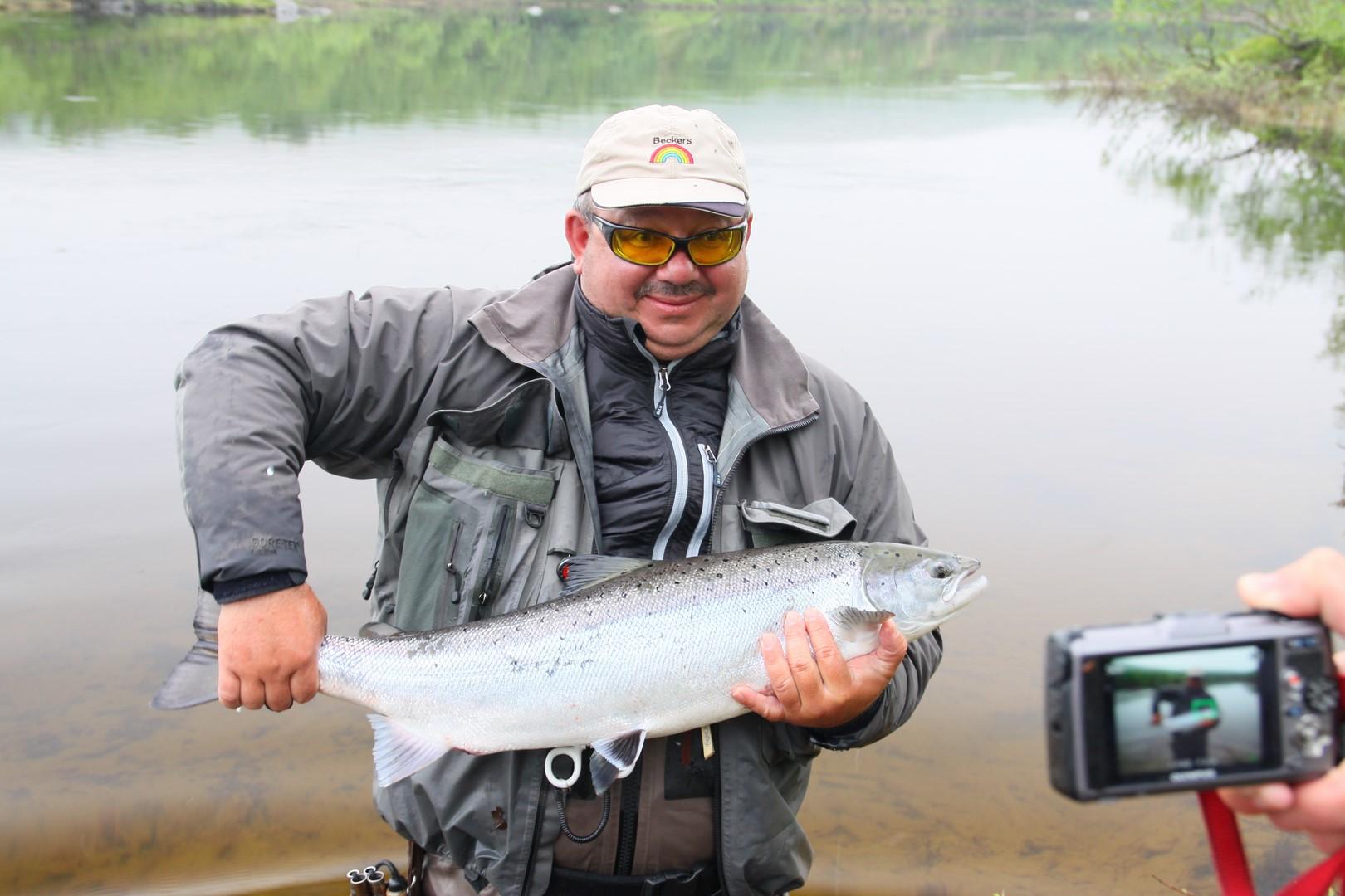 Drozdovka River salmon
