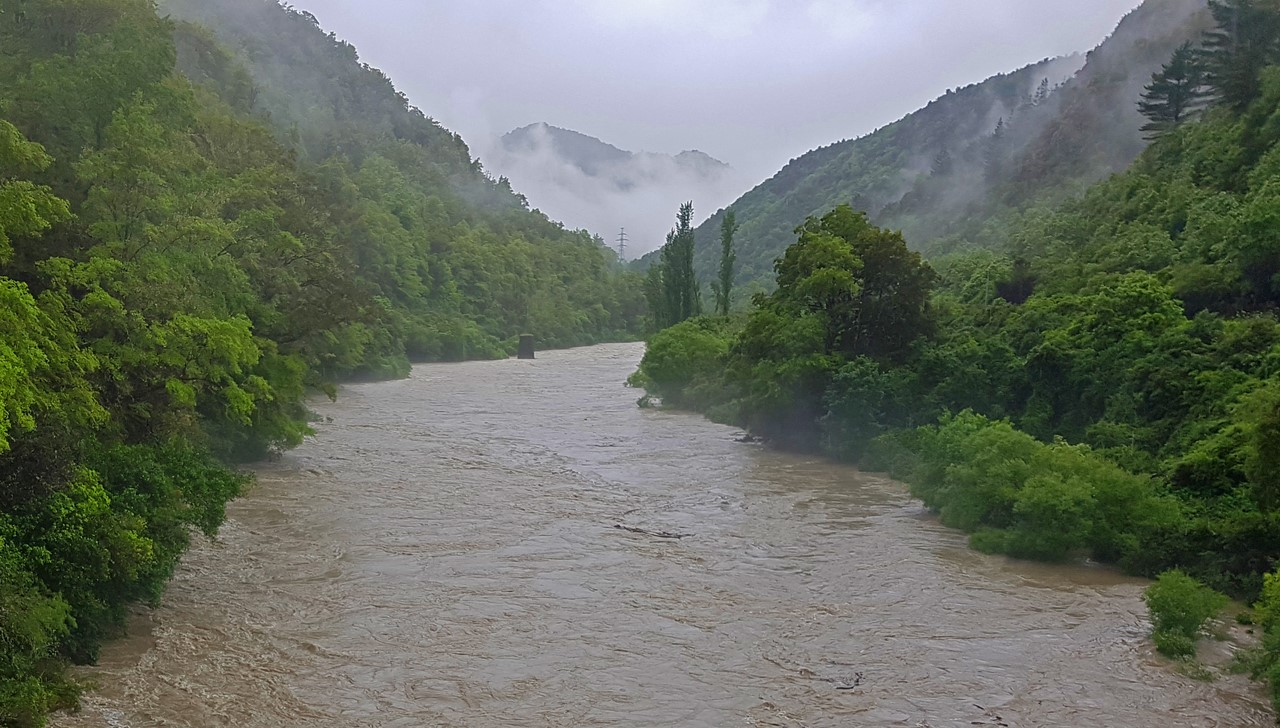 Río desbordado en NZ