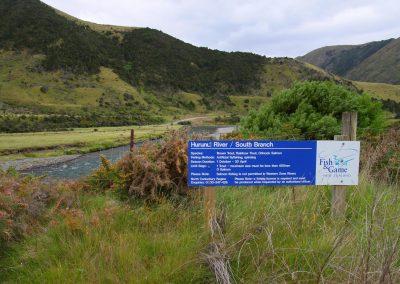 Camino al río en NZ
