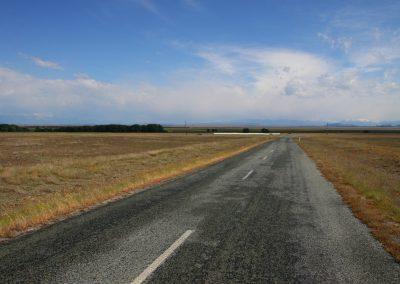 Carretera entre ríos en NZ