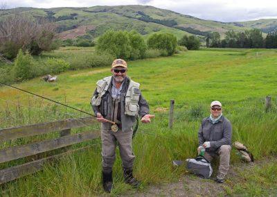 Listo para pescar en NZ
