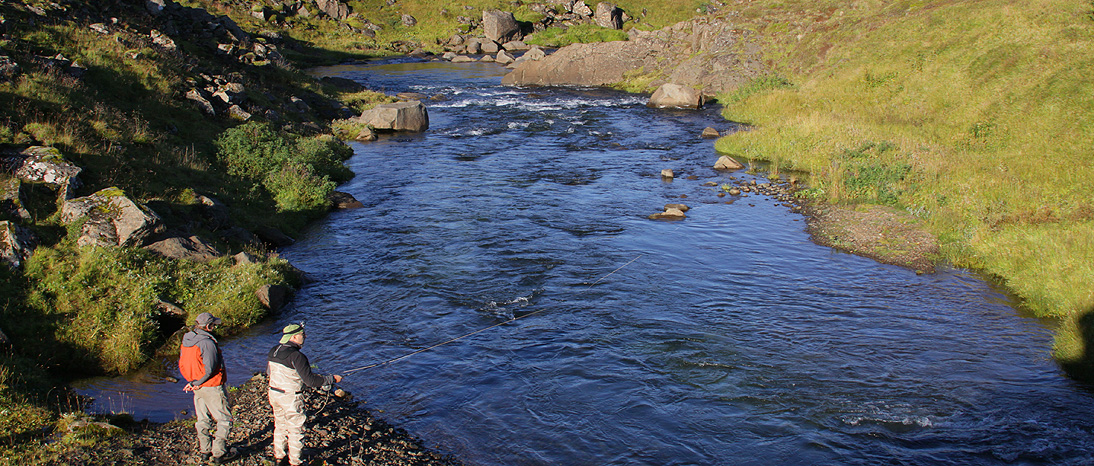 Leirvogsa River, salmon fishing just outside of Reykjavik